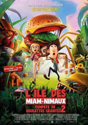 Affiche L'île des Miam-nimaux : Tempête de boulettes géantes 2