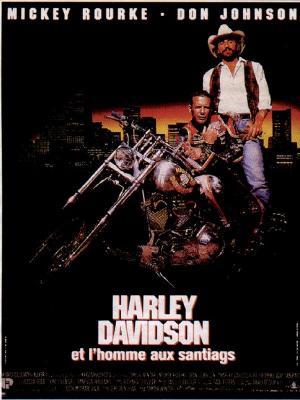 affiche Harley Davidson et l'homme aux santiags