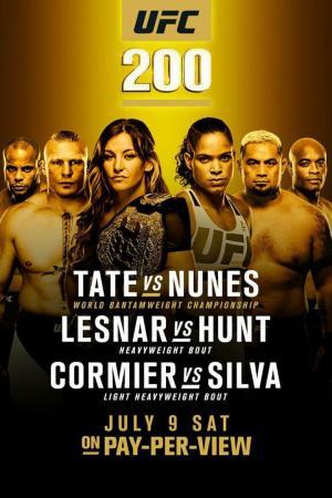 affiche UFC 200: Tate vs. Nunes