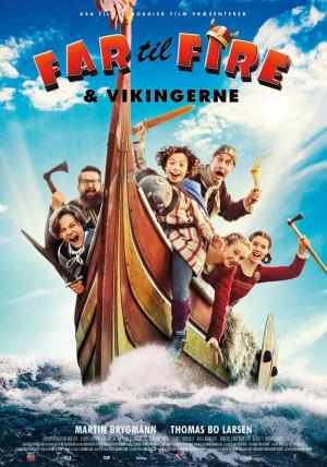 affiche Far til fire og Vikingerne