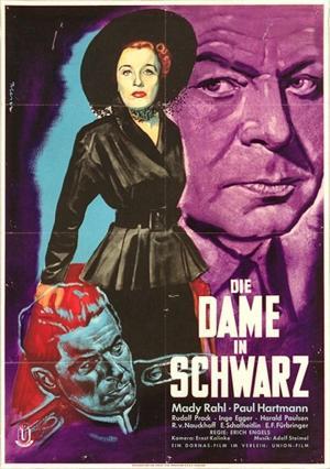affiche Die Dame in Schwarz