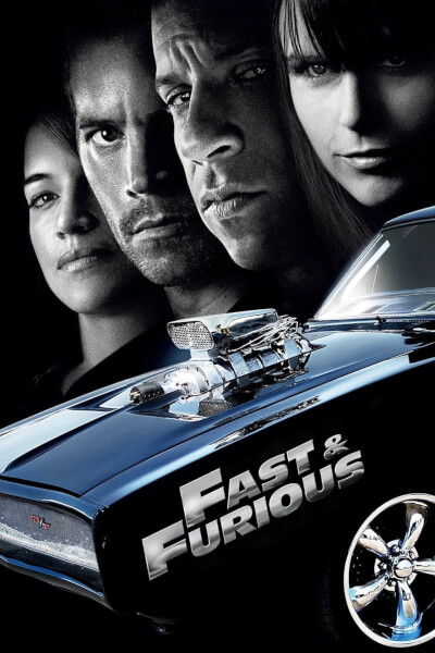 affiche Fast and Furious 4