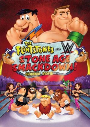 affiche Les Pierrafeu Et WWE : Catch Préhistorique !