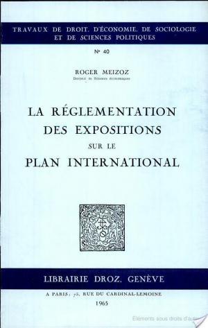 Affiche La réglementation des expositions sur le plan international