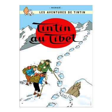 Affiche Tintin au Tibet