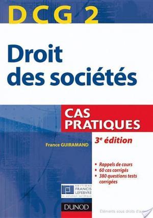 Affiche DCG 2 - Droit des sociétés - 3e édition - Cas pratiques