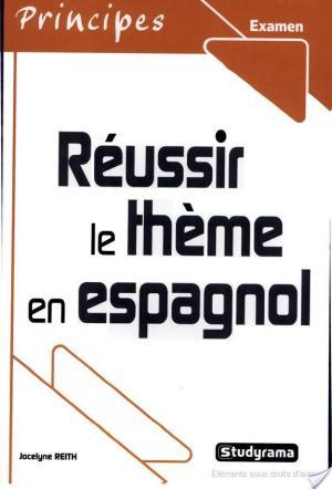 Affiche Réussir le thème en espagnol