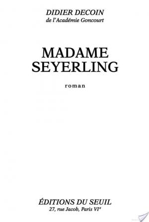 Affiche Madame Seyerling