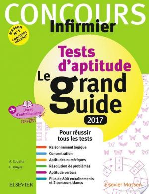 Affiche Concours Infirmier - Tests d'aptitude Le grand guide - IFSI 2017