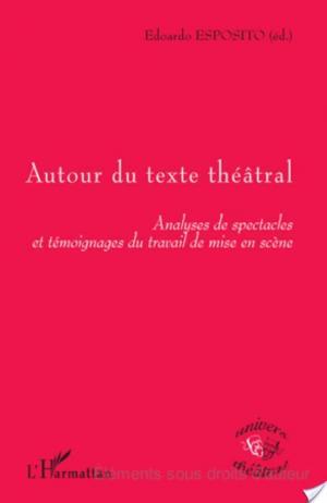 Affiche Autour du texte théâtral