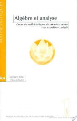 Affiche Algèbre et analyse