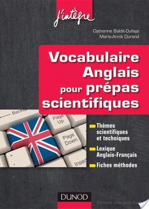 Affiche Vocabulaire anglais pour les prépas scientifiques
