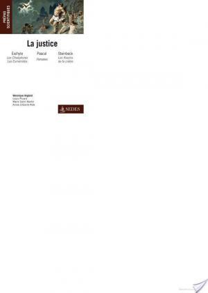 Affiche La Justice : Eschyle, Pascal, Steinbeck