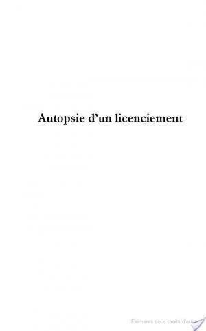 Affiche Autopsie d'un licenciement
