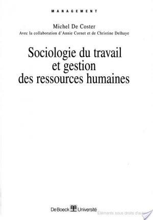 Affiche Sociologie du travail et gestion des ressources humaines