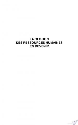 Affiche La gestion des ressources humaines en devenir