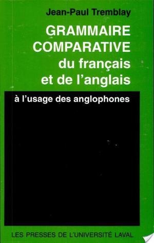 Affiche Grammaire comparative du français et de l'anglais à l'usage des anglophones