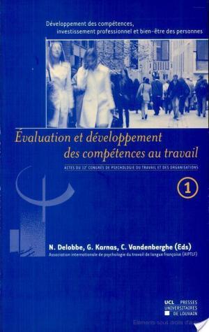 Affiche Développement des compétences, investissement professionnel et bien-être des personnes (Volume 1)