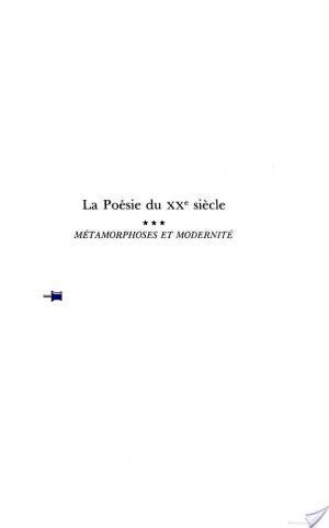 Affiche Histoire de la poésie française du XXè siècle -