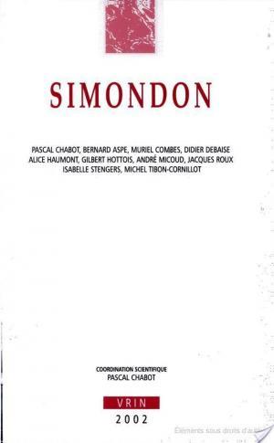 Affiche Simondon