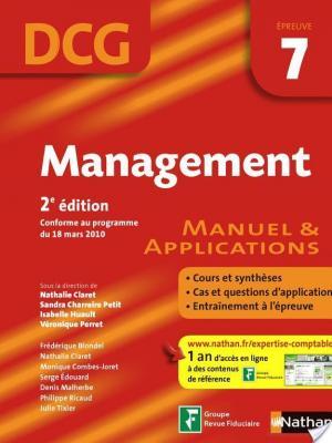 Affiche Management - 2e édition - DCG - épreuve 7 - Manuel et applications