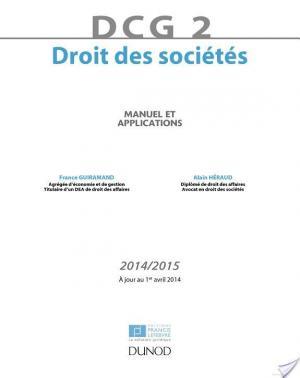 Affiche DCG 2 - Droit des sociétés 2014/2015 - 8e édition