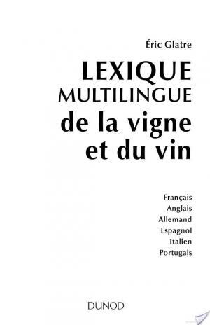 Affiche Lexique multilingue de la vigne et du vin