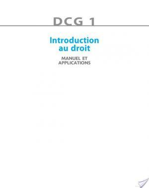 Affiche DCG 1 - Introduction au droit 2013/2014 - 7e édition