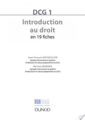 Affiche Introduction au droit DCG 1 - 5e éd.