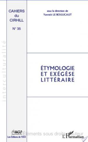 Affiche Etymologie et exégèse littéraire