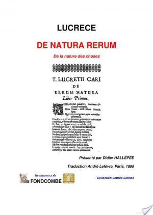 Affiche De natura rerum (de la nature des choses)