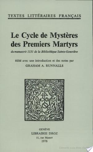 Affiche Le cycle des mystères des premiers martyrs
