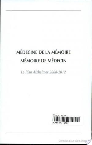 Affiche Médecine de la mémoire. Mémoire de médecin