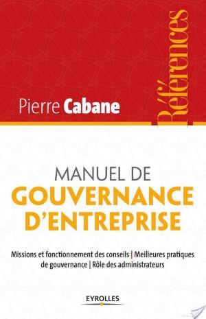Affiche Manuel de gouvernance d'entreprise