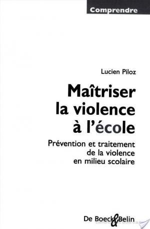 Affiche Maîtriser la violence à l'école