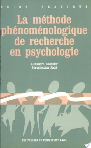 Affiche La méthode phénoménologique de recherche en psychologie