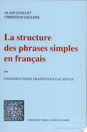 Affiche La structure des phrases simples en français