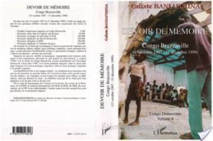 Affiche DEVOIR DE MÉMOIRE CONGO BRAZZAVILLE (15 octobre 1997 - 31 décembre 1999)