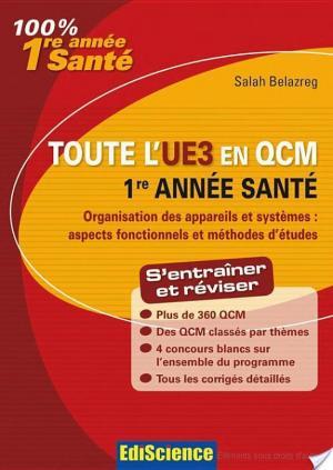 Affiche Toute l'UE3 en QCM, 1re année Santé
