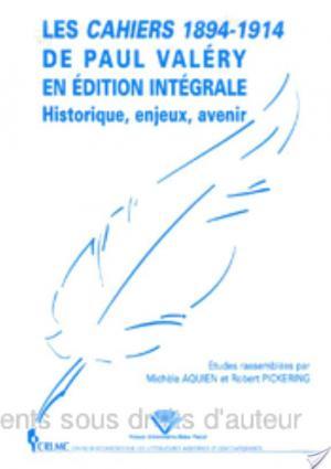 Affiche Les Cahiers 1894-1914 de Paul Valéry en édition intégrale