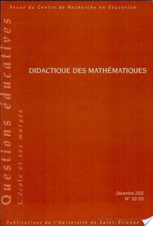 Affiche Revue du CRE N°s 22-23 (Didactique des mathématiques)