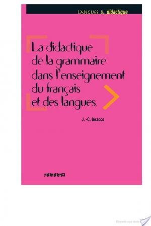 Affiche La didactique de la grammaire dans l'enseignement du français et des langues