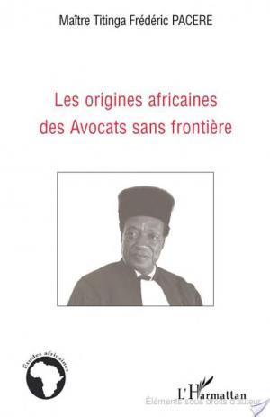 Affiche Les origines africaines des Avocats sans frontière