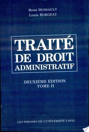 Affiche Traité de droit administratif
