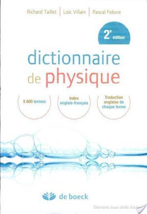 Affiche Dictionnaire de physique