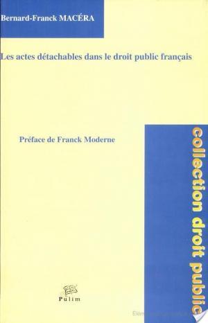 Affiche Les actes détachables dans le droit public français