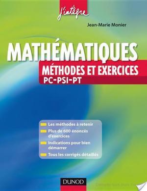 Affiche Mathématiques Méthodes et Exercices PC-PSI-PT