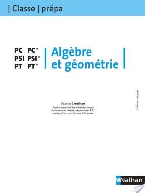 Affiche Algèbre et géométrie - PC-PC* PSI-PSI* PT-PT*