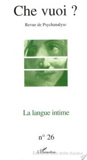 Affiche La langue intime
