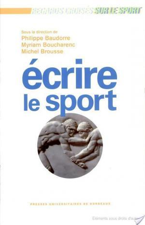 Affiche Ecrire le sport
